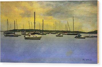 Goodnight, Nantucket Wood Print by RC deWinter