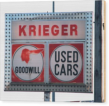 Goodwill Used Cars Wood Print by Jame Hayes