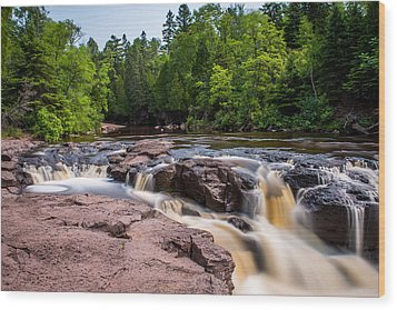 Goose Berry River Rapids Wood Print by Paul Freidlund