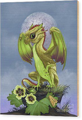 Wood Print featuring the digital art Gooseberry Dragon by Stanley Morrison