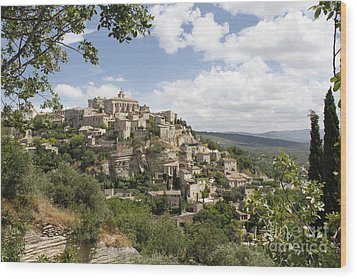 Wood Print featuring the photograph Gordes In Provence by Stan and Anne Foster