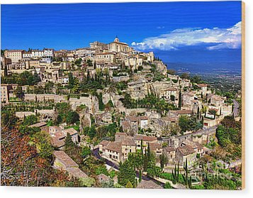 Wood Print featuring the photograph Gordes by Olivier Le Queinec