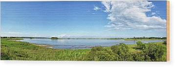 Wood Print featuring the photograph Gordons Pond Panorama - Cape Henlopen State Park - Delaware by Brendan Reals