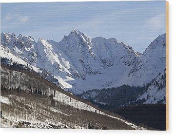 Gore Mountain Range Colorado Wood Print by Brendan Reals