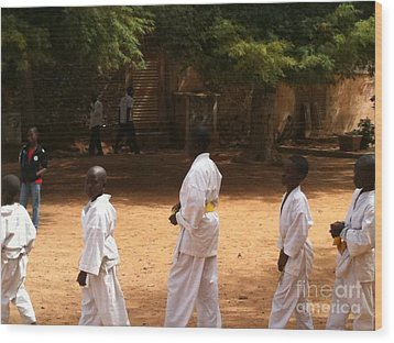 Goree Karate  Wood Print by Fania Simon