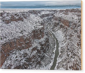 Wood Print featuring the photograph Gorge In Snow by Britt Runyon