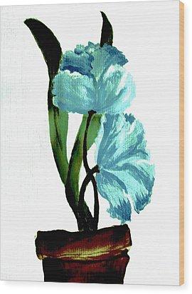 Gorgeous Flowers Wood Print by Marsha Heiken