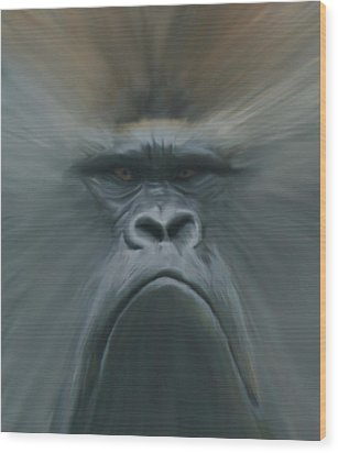 Gorilla Freehand Abstract Wood Print by Ernie Echols