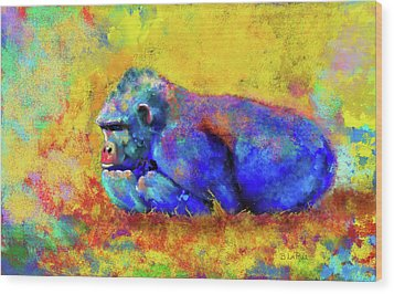 Wood Print featuring the photograph Gorilla by Test