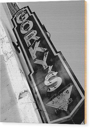 Gorky's Cafe Wood Print by Jeff Lowe