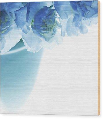 Got The Blues Wood Print by Rebecca Cozart