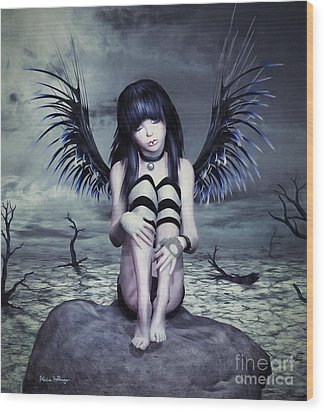 Goth Fairy Wood Print