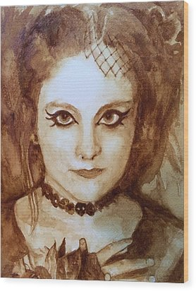 Goth Lady Wood Print by Chrissey Dittus