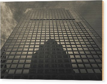 Wood Print featuring the photograph Gotham City by Lora Lee Chapman