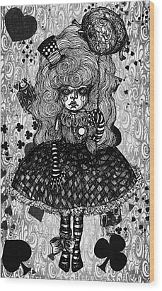 Gothic Cute Girl Wood Print