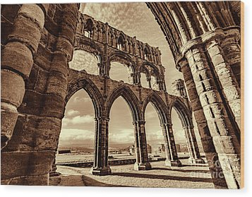 Wood Print featuring the photograph Gothic Dreams by Anthony Baatz
