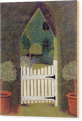 Gothic Gate Wood Print by Jan Amiss