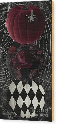 Gothic Halloween Wood Print by Mindy Sommers