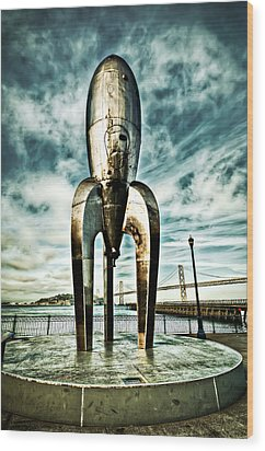 Wood Print featuring the photograph Gothic Rocketship Ray Gun by John Maffei