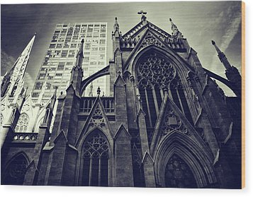 Wood Print featuring the photograph Gothic Perspectives by Jessica Jenney