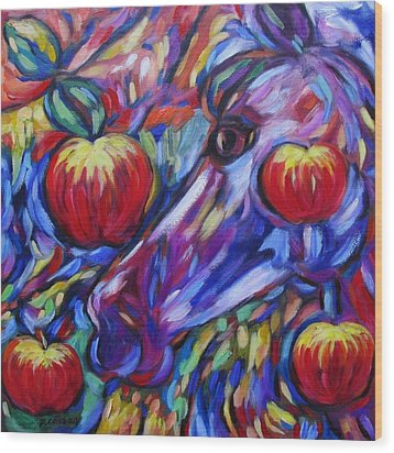 Gotta Luv Them Rosie Apples I Wood Print