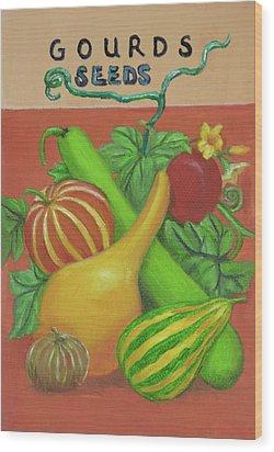 Gourd Orange Wood Print