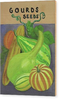 Gourd Purple Wood Print