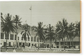Governors Palace Guam Wood Print by eGuam Photo