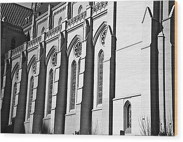 Grace Cathedral Wood Print by Larry Butterworth