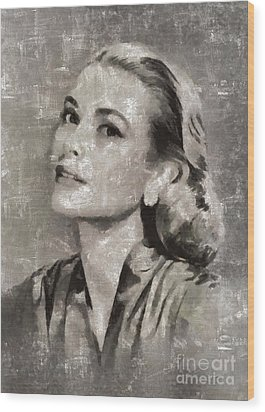 Grace Kelly By Mary Bassett Wood Print