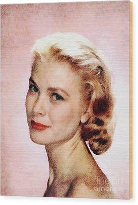 Grace Kelly, Vintage Actress Wood Print