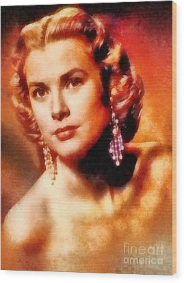 Grace Kelly, Vintage Hollywood Actress Wood Print by Frank Falcon