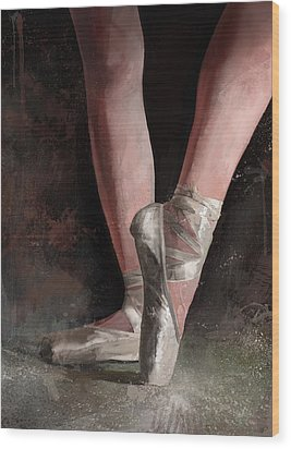 Wood Print featuring the digital art Graceful Slippers by Steve Goad