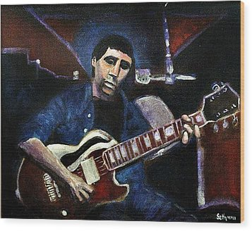 Wood Print featuring the painting Graceland Tribute To Paul Simon by Seth Weaver