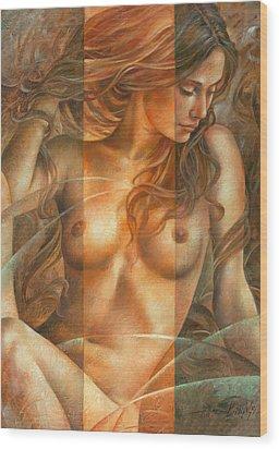 Gracia2 Wood Print by Arthur Braginsky