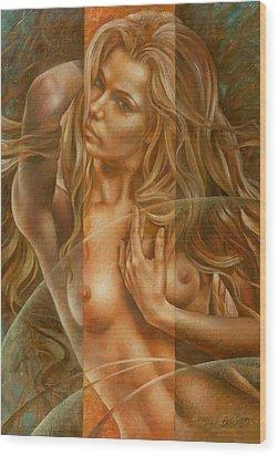 Gracia3 Wood Print by Arthur Braginsky