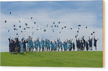 Graduation Day Wood Print by Alan Toepfer