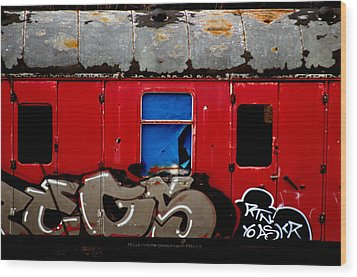 Graff Train Wood Print