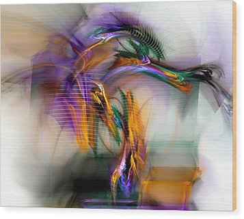 Wood Print featuring the digital art Graffiti - Fractal Art by NirvanaBlues
