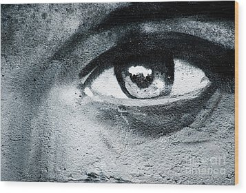 Wood Print featuring the painting Graffiti Eye by Yurix Sardinelly