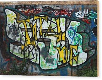 Graffiti Fort Armistead Baltimore Maryland Wood Print by Wayne Higgs