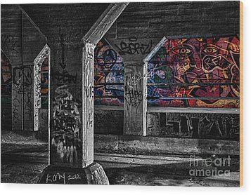Graffiti Galore 2 Wood Print