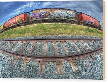 Graffiti Genius 2 Wood Print by Bob Christopher