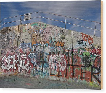 Graffiti Wall Wood Print