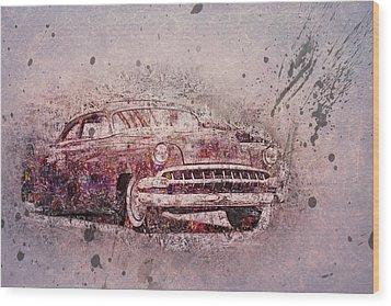 Wood Print featuring the photograph Graffiti Merc by Joel Witmeyer