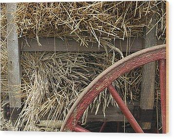 Grain Wagon Wood Print by Robert Ponzoni
