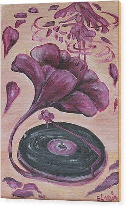 Gramophone Wood Print