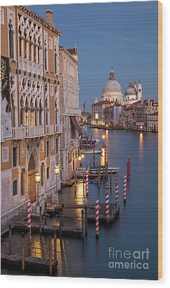 Wood Print featuring the photograph Grand Canal Twilight II by Brian Jannsen