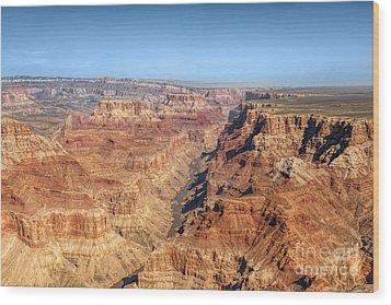 Grand Canyon Aerial View Wood Print