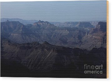 Grand Canyon At Dusk Wood Print by Erica Hanel